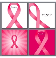 Breast cancer awareness pink ribbon background vector