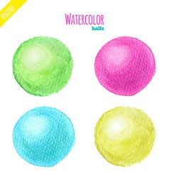 Watercolor balls vector