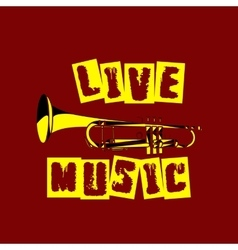 Live music trumpet vector