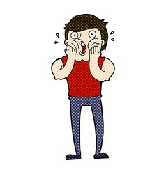 Comic cartoon gasping man vector