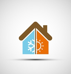 Logo home with climate control vector