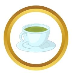 A cup of tea icon vector