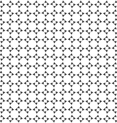 Abstract monochrome geometric seamless pattern vector image vector image