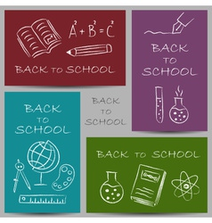 back to school chalky vector image