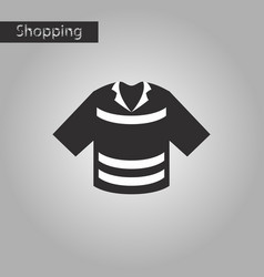 black and white style icon polo shirt vector image vector image
