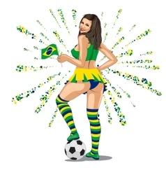 Brasil soccer fan vector
