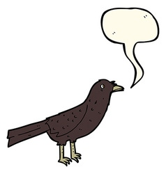 cartoon crow with speech bubble vector image