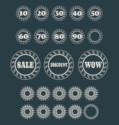Circular stamps for retail business vector