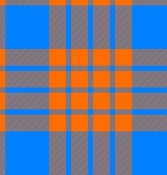 clan tartan seamless background orange and blue vector image vector image