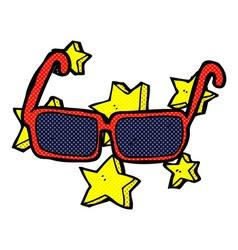 Comic cartoon expensive sunglasses vector