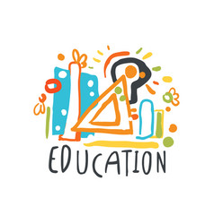 Education back to school logo graphic template vector