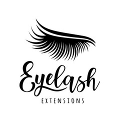 Eyelash extension logo vector