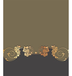 Gold floral background vector