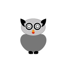 Grey owl- bird of prey vector