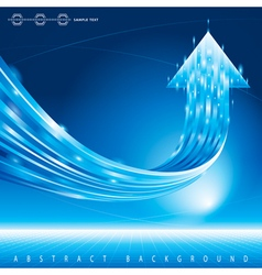 Growth Arrow Background vector image vector image