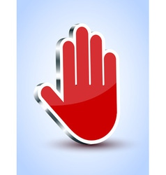 Hand sign vector
