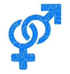 Heterosexual symbol grunge icon vector