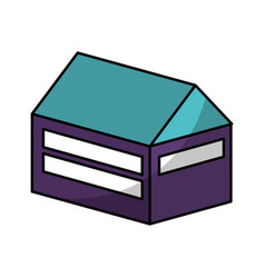 house isometric isolated icon vector image