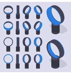 Isometric bladeless air fans vector