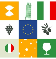 Italy Icon set vector image