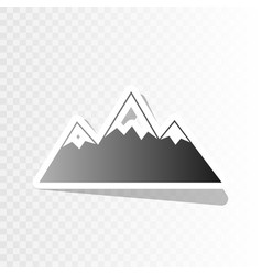 Mountain sign new year vector