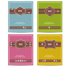 old vintage book cover set vector image vector image