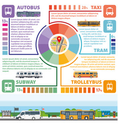 Passenger public transport infographics vector