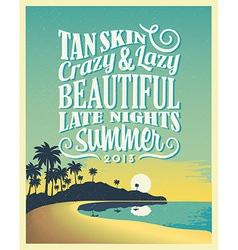 Retro Vintage Summer Poster Design with Typography vector image