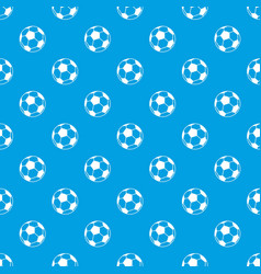 Soccer ball pattern seamless blue vector