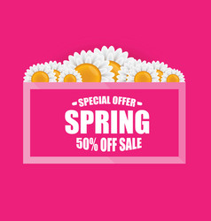 spring sale design template banner or tag vector image