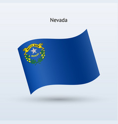 state of nevada flag waving form vector image vector image