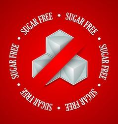 Sugar free symbol vector image vector image