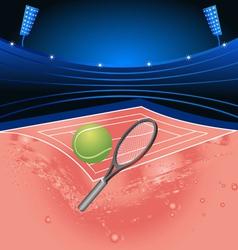 tennis sport stadium vector image vector image