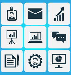 Trade icons set collection of leader statistics vector