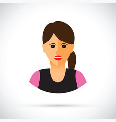 women profile view vector image