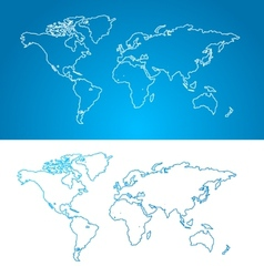 world map concept Contour vector image vector image