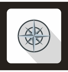 Compass wind rose icon flat style vector