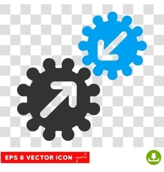 Integration eps icon vector