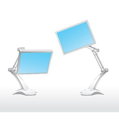 monitor blue vector image