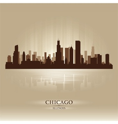 Chicago illinois skyline city silhouette vector
