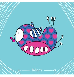 Mom bird vector