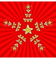 Kids Christmas Star vector image