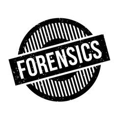 Forensics rubber stamp vector
