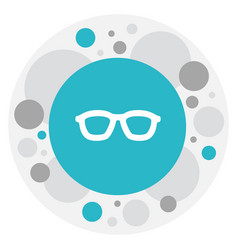 Of science symbol on glasses vector