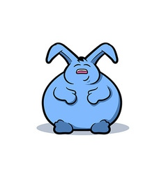 Fat Rabbit Cartoon vector image