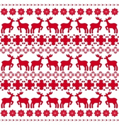 Christmas traditional pattern vector