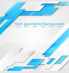 Blue grey hi-tech geometric bright vector