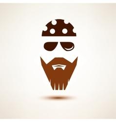 Biker or rocker symbol stylized icon vector