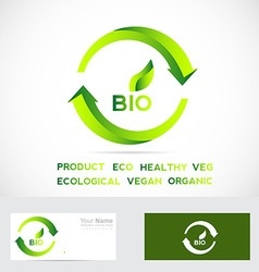 Bio eco badge vector
