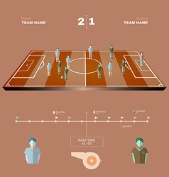 Football playfield side view vector